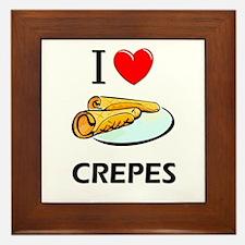 I Love Crepes Framed Tile