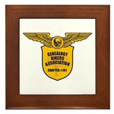 Genealogy Bikers Framed Tile