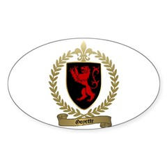 GOYETTE Family Crest Oval Decal