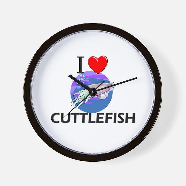 I Love Cuttlefish Wall Clock