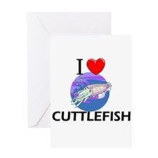 I Love Cuttlefish Greeting Card