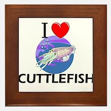 I Love Cuttlefish Framed Tile