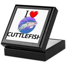 I Love Cuttlefish Keepsake Box
