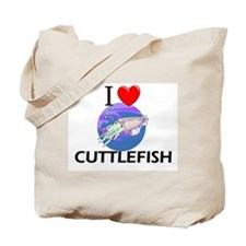 I Love Cuttlefish Tote Bag