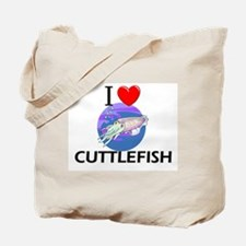 I Love Cuttlefish Tote Bag