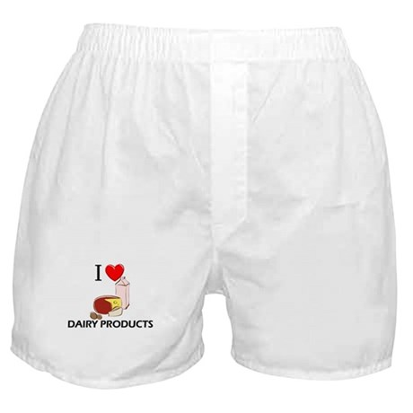 I Love Dairy Products Boxer Shorts