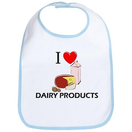 I Love Dairy Products Bib