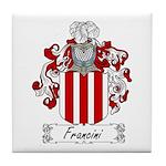 Francini Family Crest Tile Coaster