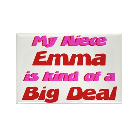 Niece Emma - Big Deal Rectangle Magnet