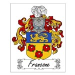 Francone Family Crest Small Poster