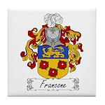 Francone Family Crest Tile Coaster