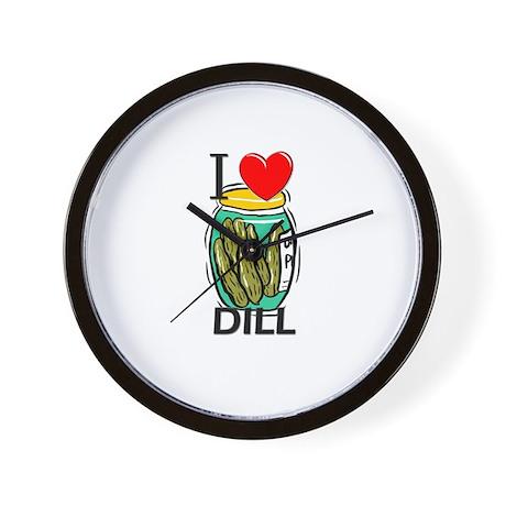 I Love Dill Wall Clock