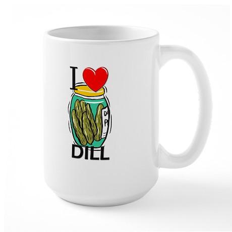 I Love Dill Large Mug