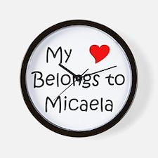 Cool Micaela Wall Clock