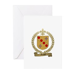 GOULET Family Crest Greeting Cards (Pk of 10)