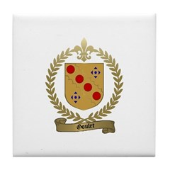 GOULET Family Crest Tile Coaster