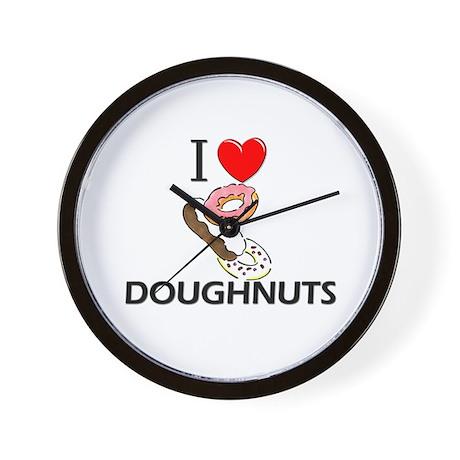 I Love Doughnuts Wall Clock