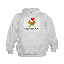 I Love Drumsticks Hoodie