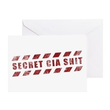 Secret CIA Shit Greeting Card