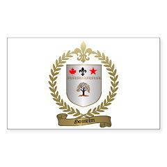 GOSSELIN Family Crest Rectangle Decal