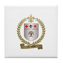 GOSSELIN Family Crest Tile Coaster