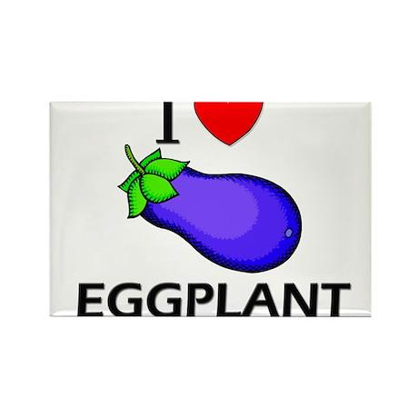 I Love Eggplant Rectangle Magnet