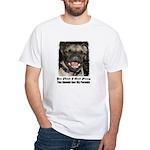 LAUGHING PUG White T-Shirt