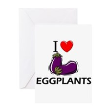 I Love Eggplants Greeting Card