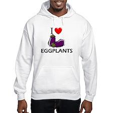 I Love Eggplants Jumper Hoody