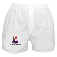 I Love Eggplants Boxer Shorts