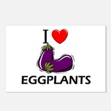 I Love Eggplants Postcards (Package of 8)