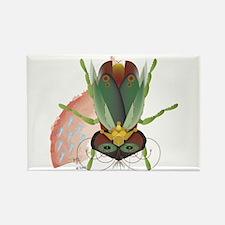 Queen Beetle Nesting Rectangle Magnet