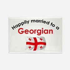 Happily Married Georgian Rectangle Magnet