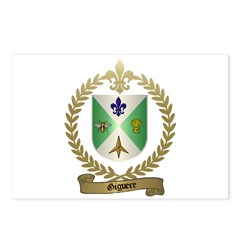 GIGUERE Family Crest Postcards (Package of 8)