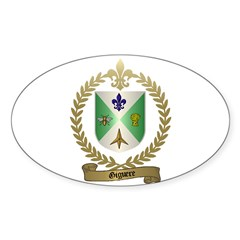 GIGUERE Family Crest Oval Decal