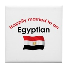 Happily Married Egyptian Tile Coaster