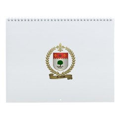 GENDRON Family Crest Wall Calendar