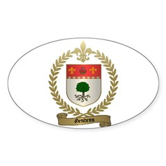 GENDRON Family Crest Oval Decal