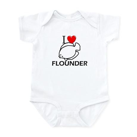 I Love Flounder Infant Bodysuit