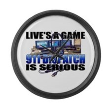 Live's A Game Large Wall Clock