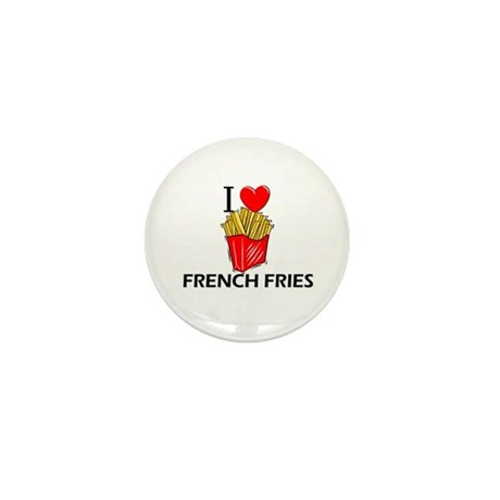 I Love French Fries Mini Button (10 pack)