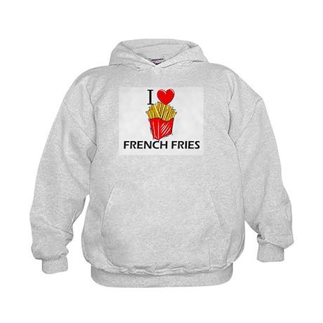 I Love French Fries Kids Hoodie
