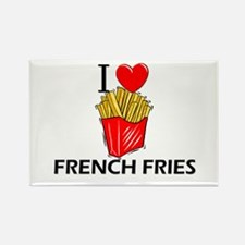 I Love French Fries Rectangle Magnet (10 pack)