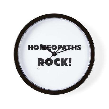 Homeopaths ROCK Wall Clock