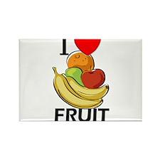 I Love Fruit Rectangle Magnet