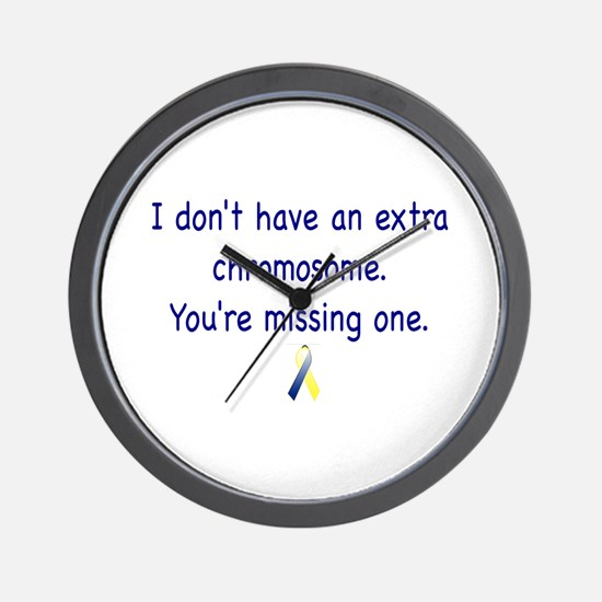Don't have an extra chromosome Wall Clock