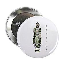 """mind body soul - namaste 2.25"""" Button (10 pack)"""