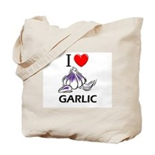 I Love Garlic Tote Bag