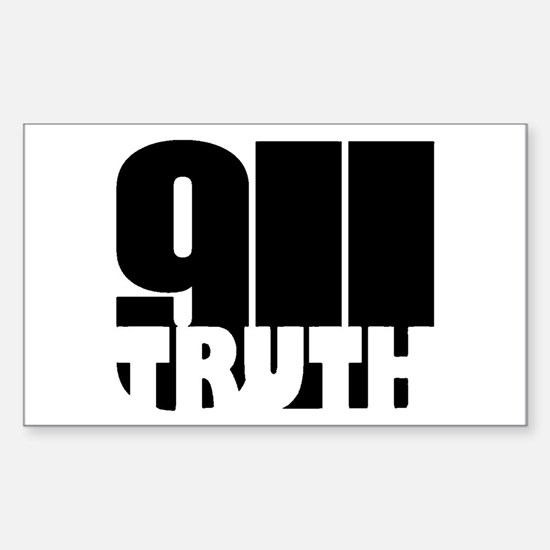 911 Truth Rectangle Decal