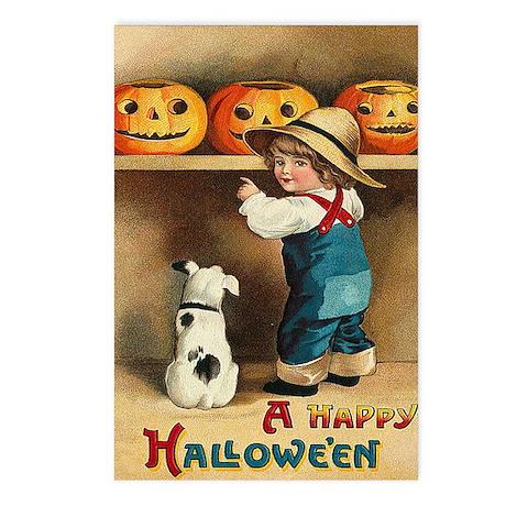 Halloween Jack O'Lanterns Postcards (Package of 8)